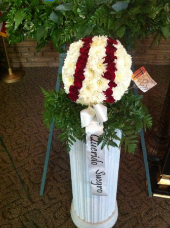 Baseball Fanatic funeral piece