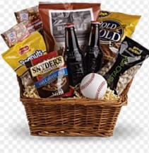 Baseball Goody Basket Snack Basket