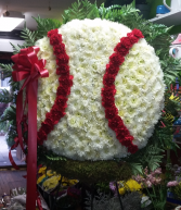 baseball remembrance funeral flowers