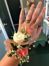 Basic Gem Stem Wrist Corsage