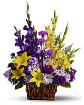 BASKET 1 FUNERAL PC GOOD FOR FUNERAL AND MEMORIAL SERVICES