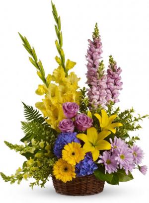 Basket Arrangement 72  in Oakville, ON | ANN'S FLOWER BOUTIQUE-Wedding & Event Florist
