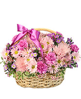 Gentle Dreams Basket Arrangement