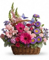 Basket Blooms Mixed Flower Basket