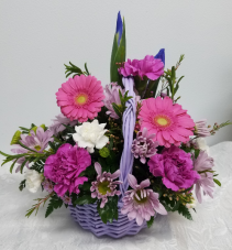Basket for Mom Pastel Basket Bouquet