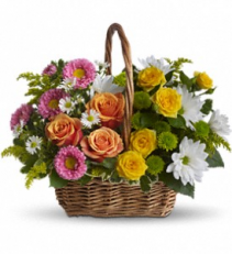 Basket full of Blooms  Basket Arrangement
