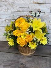 Basket Full of Wishes  in Largo, Florida | Rose Garden Florist