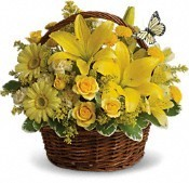 Basket Full of Wishes Basket Flower Arrangement