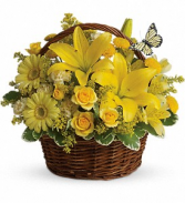 Basket Full Of Wishes      T27-2 Fresh Floral Arrangement
