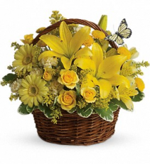 Basket Full Of Wishes Fresh Floral Arrangement