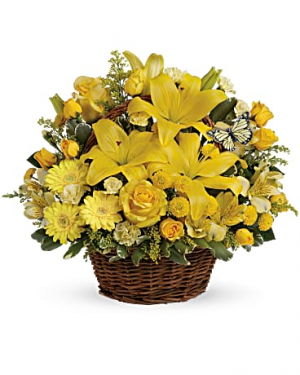 basket full of wishes spring/summer in Berkley, MI | DYNASTY FLOWERS & GIFTS
