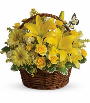 Basket Full of Wishes - T27-2A Birthday Flowers  in East Templeton, MA | Valley Florist & Greenhouse