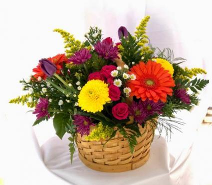 Basket Lover fresh arrangement