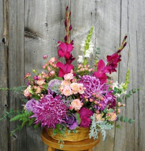 Basket of Beauty  Abundant Flower Arrangement