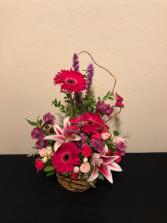 Basket of Beauty Basket Arrangement