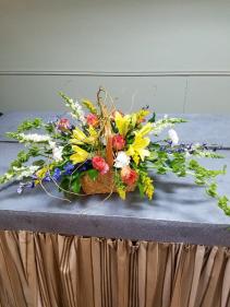 Basket of blooms Basket design