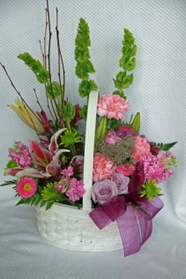 Basket of Blooms Custom Fitzgerald Flowers Arrangement