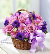 Basket of Blooms Fresh Flowers