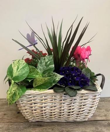 Basket of Blooms Planter