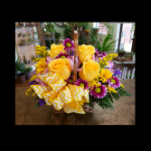 Basket of Blooms Sympathy Arrangement