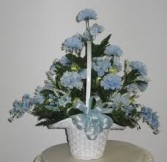 Basket of Blue Flowers