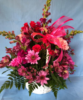 Basket of Bright Blossoms
