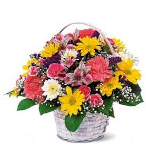 Basket of Cheer *Basket of Cheery Flowers/ may vary in Lebanon, NH | LEBANON GARDEN OF EDEN FLORAL SHOP