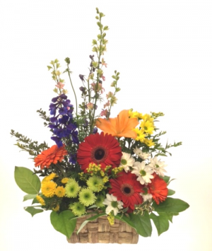 Basket of Cheer Arrangement in Invermere, BC | INSPIRE FLORAL BOUTIQUE