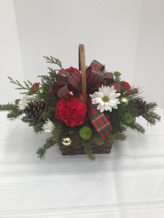 Basket of Christmas Cheer Centerpiece