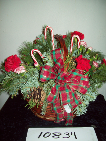 Basket of Christmas Sweetness Basket Arrangement