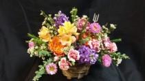 Basket of Color  Fresh Arrangement