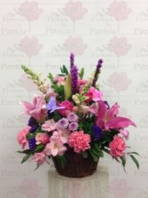 Basket of Color Spring Arrangement