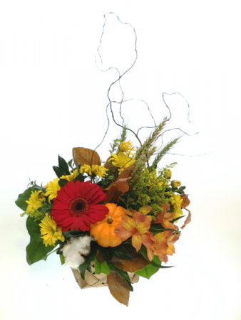 Basket of Fall Container Arrangement