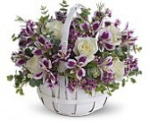 Basket of Lavender Floral Bouquet