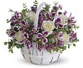 Basket of Lavender Floral Bouquet