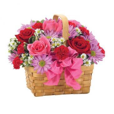 Basket Of Love -  Flowers Basket
