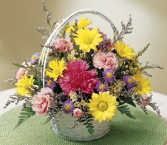 Basket of Love Bouquet Basket arrangement