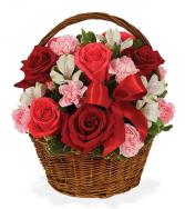 Basket Of Love Flower Basket