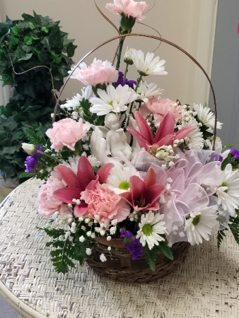 Basket of Love Fresh with angel