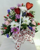 Basket of Love Mixed Basket Arrangement