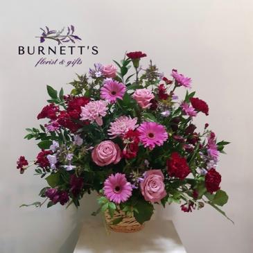 Basket Of Love Sympathy Arrangement