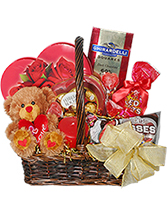 Basket of Love Valentine Arrangemnt