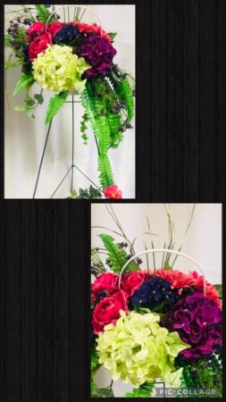 Basket of Memories - Silk Arrangement Funeral Basket