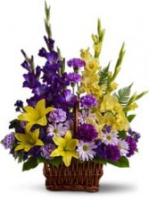 Basket of Memories Flowers Family can Take Home