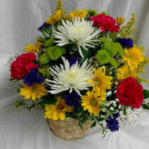 Basket of Mixed Brights *Flowers may vary in Lebanon, NH | LEBANON GARDEN OF EDEN FLORAL SHOP