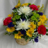 Basket of Mixed Brights *Flowers may vary
