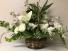 Basket of Multi White Flowers Easter