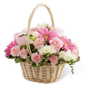 Basket of Pinks  in Lebanon, NH | LEBANON GARDEN OF EDEN FLORAL SHOP