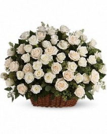 Basket Of Roses Arrangement
