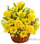 Basket Of Smile Floral Arrangement